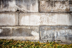 Concrete block wall Stock Photography