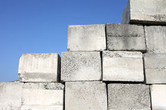 Concrete blocks. And blue sky Stock Image