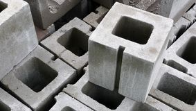 Concrete Blocks. Group of concrete blocks used in construction royalty free stock image