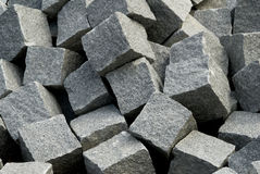 Concrete blocks in black and white. Squares or blocks made of concrete for construction work Royalty Free Stock Photos