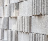 Concrete blocks. Concrete construction blocks close up background texture Royalty Free Stock Photos