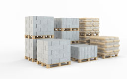 Concrete blocks Royalty Free Stock Photo