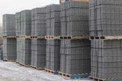 Concrete blocks before loading Stock Photos
