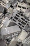 Concrete blocks royalty free stock images