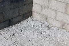 Concrete blocks for a new building Royalty Free Stock Photos