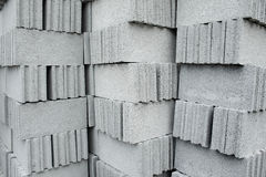 Concrete blocks Stock Images