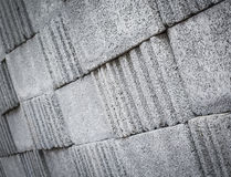 Concrete blocks pattern Stock Photos