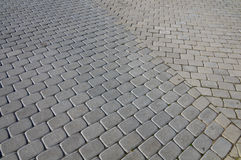 Concrete blocks pavement Royalty Free Stock Photo