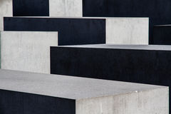 Concrete Blocks with Shade and Sun Play - Abstract Royalty Free Stock Photography