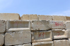 Concrete blocks Royalty Free Stock Photos
