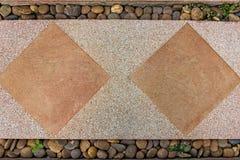 Concrete blocks tiles walkway. Stock Image