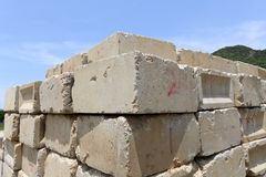Concrete blokken Stock Fotografie