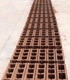 Concrete blokken - Rode sinaasappel - Perspectief Royalty-vrije Stock Afbeeldingen