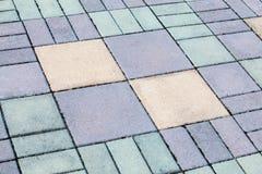 Concrete blokweg Royalty-vrije Stock Afbeeldingen