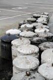 Concrete bollards Royalty Free Stock Photo
