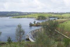 Concrete Boogdam, Myponga-Reservoir, Zuid-Australië Stock Fotografie