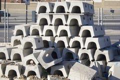 Concrete Bouwstenen Royalty-vrije Stock Fotografie
