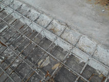 Concrete bouwverbinding bij bouwwerf stock foto