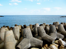 Concrete breakwater Royalty Free Stock Photography