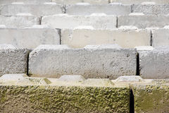 Concrete Breakwater Slabs Royalty Free Stock Images