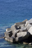 Concrete breakwaters. In Adriatic sea Royalty Free Stock Photos