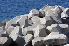 Concrete breakwaters Royalty Free Stock Photo