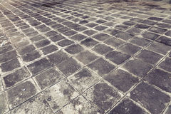 Concrete brick pavement Royalty Free Stock Photo