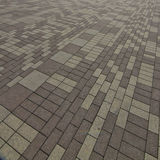 Concrete brick pavement Stock Photography