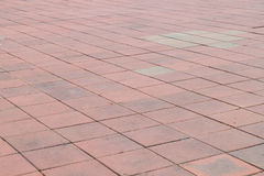 Concrete brick pavement road Stock Image