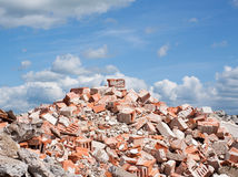 Concrete and brick rubble derbis Royalty Free Stock Photos