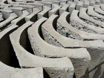 Concrete Bricks. A photo taken on concrete bricks for drainage construction at a site Stock Photography