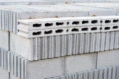 Concrete bricks for construction. Stock Image