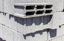 Concrete bricks Stock Photography
