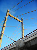 Concrete bridge. Bridge in a highway, made of stone, concrete and metal Royalty Free Stock Image