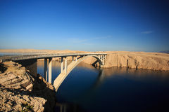 Concrete bridge. On Pag island in Croatia Royalty Free Stock Images
