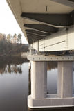 Concrete bridge across the river Royalty Free Stock Photography