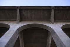 Concrete Bridge Arch. Arch on the underside of a concrete bridge Royalty Free Stock Photography