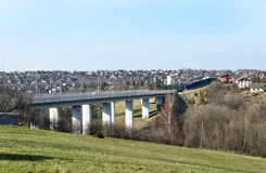 Concrete bridge for car traffic Royalty Free Stock Photo