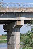 Concrete bridge in east europe. Detail of concrete bridge in east europe stock photos