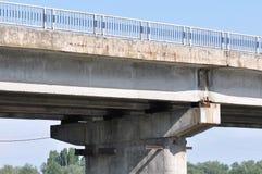 Concrete bridge in east europe. Detail of concrete bridge in east europe stock photo