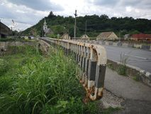 Concrete bridge in east europe. Detail of concrete bridge in east europe stock image