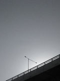 Concrete Bridge in Grayscale Royalty Free Stock Images