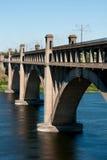 Concrete bridge over the river Stock Photo