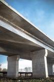 Concrete bridge pillars Royalty Free Stock Images
