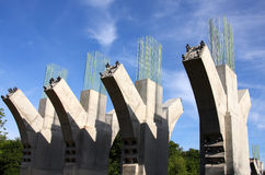Concrete Bridge Supports Stock Photography
