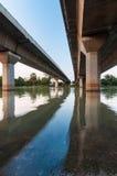 Concrete bridge taken from a futuristic angle Stock Photo