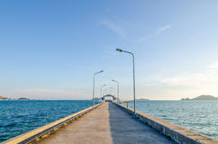 Concrete bridge to the sea Stock Image