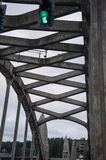 Concrete bridge truss Royalty Free Stock Image