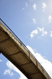 Concrete bridge under the sky Stock Images