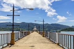 Concrete bridge way to koh Chang island harbor Stock Photography